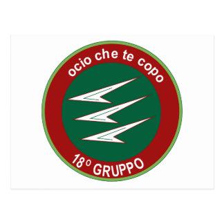 Italian Patch Air Force Aeronautica Militare AM 18 Postcard