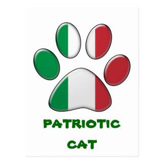 Italian patriotic cat postcard