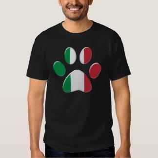 Italian patriotic cat shirt