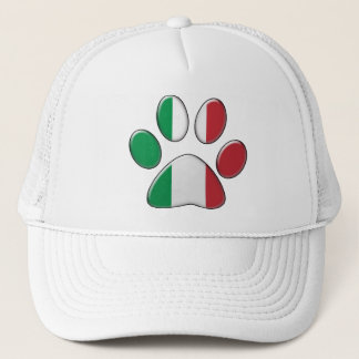 Italian patriotic cat trucker hat