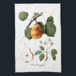 """Italian Pear Kitchen Towel<br><div class=""""desc"""">Illustration from the late 1810s - early 1820s.</div>"""