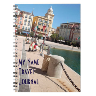 Italian Piazza Themed Travel Journal