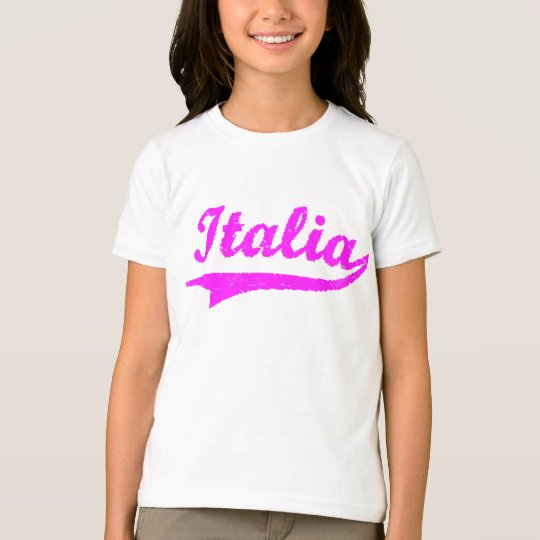 Italian Pink Girls (Black Ringer) T-Shirt