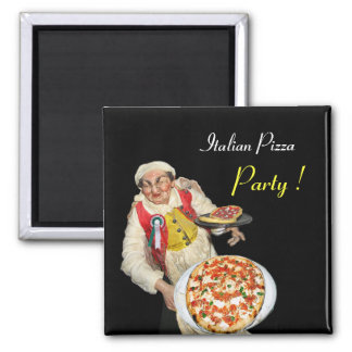 ITALIAN PIZZA,black Magnet