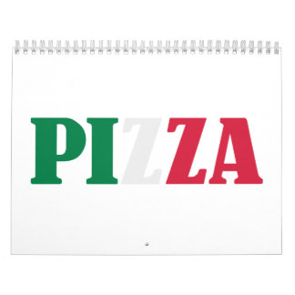 Italian pizza calendars