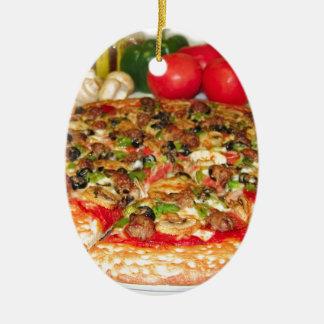 Italian Pizza Ceramic Ornament