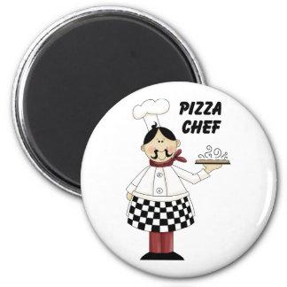 Italian Pizza Chef 2 Inch Round Magnet