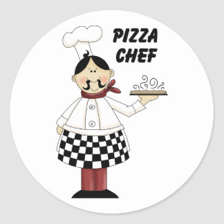 Italian Pizza Chef Classic Round Sticker