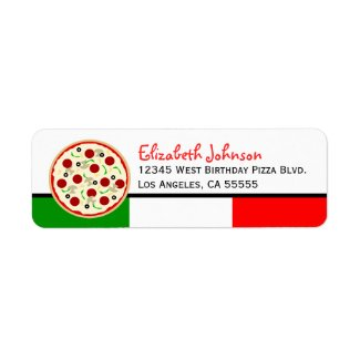 Italian Pizza Party Address Labels