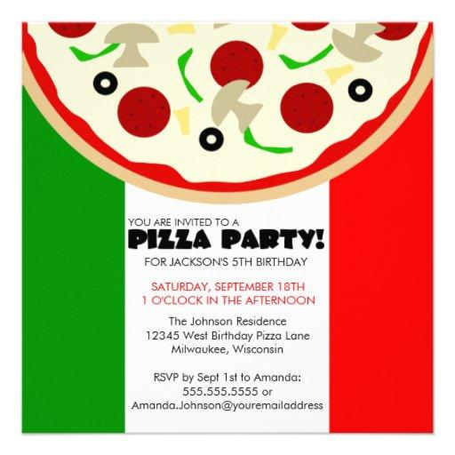 Personalized Pizza making party Invitations | CustomInvitations4U.com