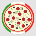 Italian Pizza Party Stickers