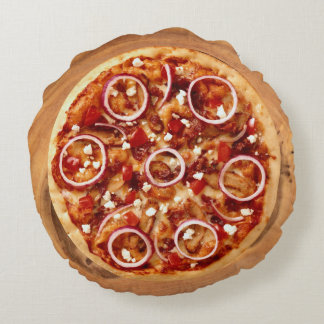 Italian Pizza Round Pillow