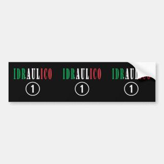 Italian Plumbers : Idraulico Numero Uno Car Bumper Sticker