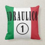 Italian Plumbers : Idraulico Numero Uno Throw Pillows