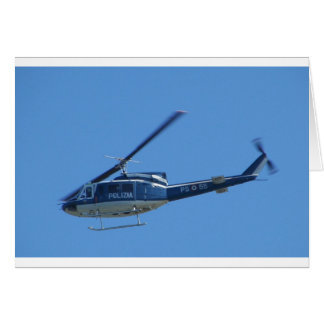 Italian Police helicopter. Card