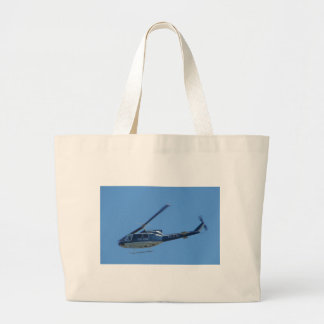 Italian Police helicopter. Large Tote Bag