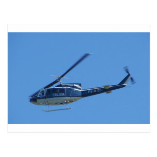 Italian Police helicopter. Postcard