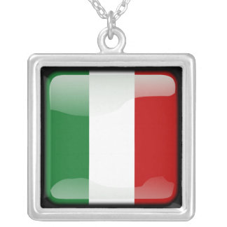 Italian polished silver plated necklace
