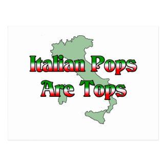 Italian Pops Are Tops Postcard