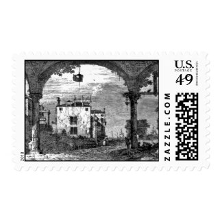 Italian Portico with Lantern 1741 Postage
