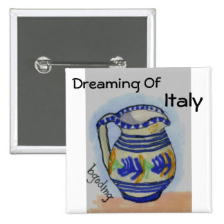 Italian Pottery Pinback Buttons