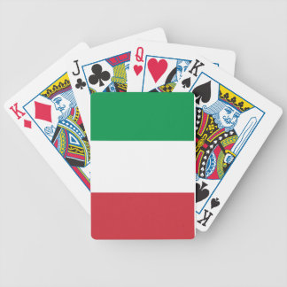Italian pride bicycle playing cards