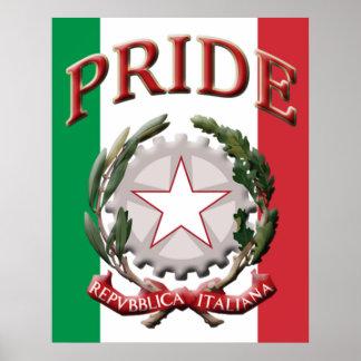 Italian Pride Coat of Arms Poster