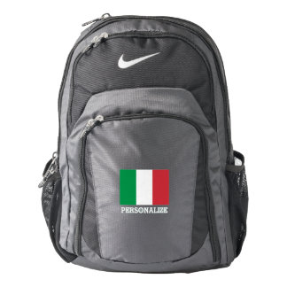 Italian pride flag of Italy personalized Nike Backpack