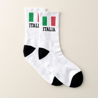 Italian pride flag of Italy personalized sport Socks