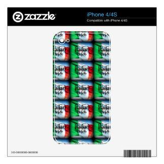 """ITALIAN PRIDE"" I PAD CASE SKIN IT SKINS FOR iPhone 4S"