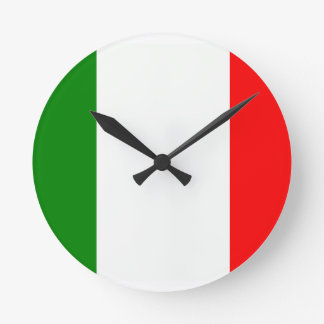 Italian Pride Round Clock