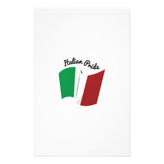 Italian Pride Personalized Stationery