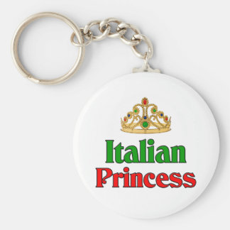Italian Princess Basic Round Button Keychain