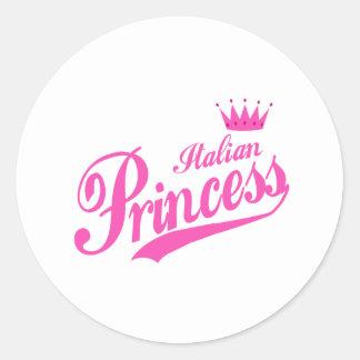 Italian Princess Classic Round Sticker