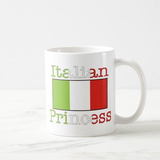 Italian Princess Classic White Coffee Mug
