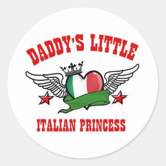 italian Princess Designs Round Sticker