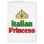 Italian Princess Greeting Card