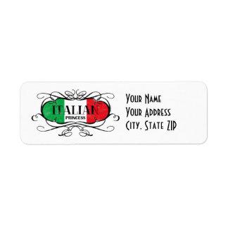 Italian Princess Label
