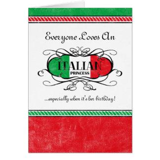Italian Princess Personalized Card