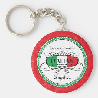 Italian Princess Personalized Keychain