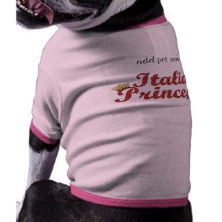 Italian Princess - Pink Dog T-shirt