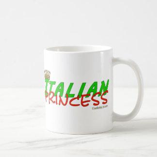 Italian Princess With Crown Classic White Coffee Mug