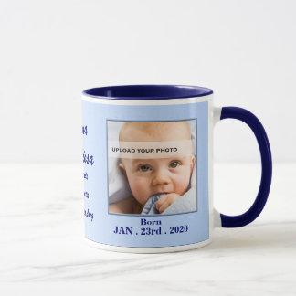 Italian Proud Grandmother Baby Blue Photo Mug