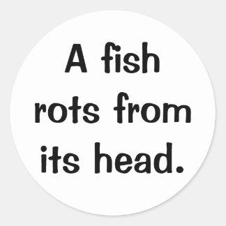 Italian Proverb No.10A Classic Round Sticker