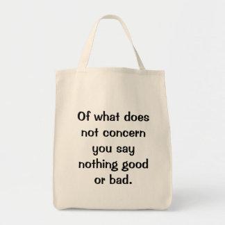 Italian Proverb No.128 Bag