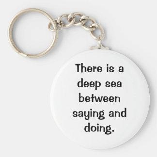 Italian Proverb No.178 Keychain