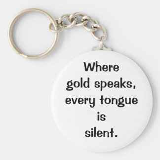 Italian Proverb No.206 Keychain