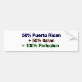 Italian puertorican bumper sticker