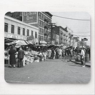 Italian Pushcart Market, Bronx: 1940 Mouse Pad