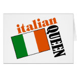 Italian Queen & Flag Card